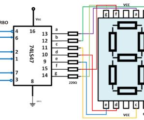 Conectar display 7 segmentos a integrado 7447