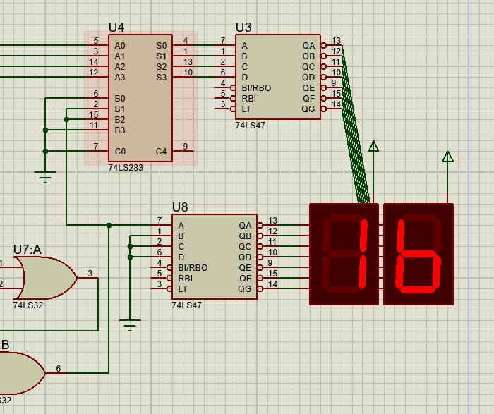 dafad - Sumador 4 bits con integrado 74283