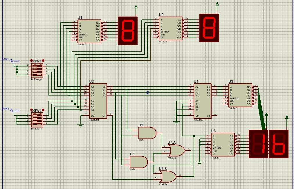 diagrama sumador 74283 - Sumador 4 bits con integrado 74283