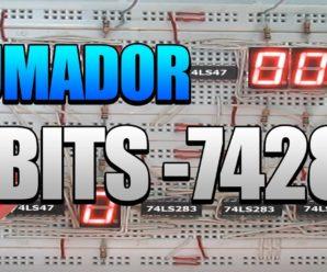 Sumador 4 bits con integrado 74283