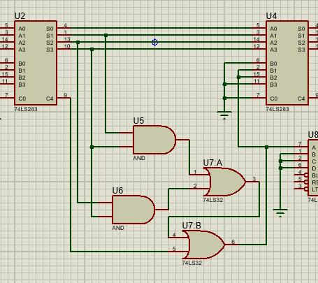 sumador sumador 1 - Sumador 4 bits con integrado 74283