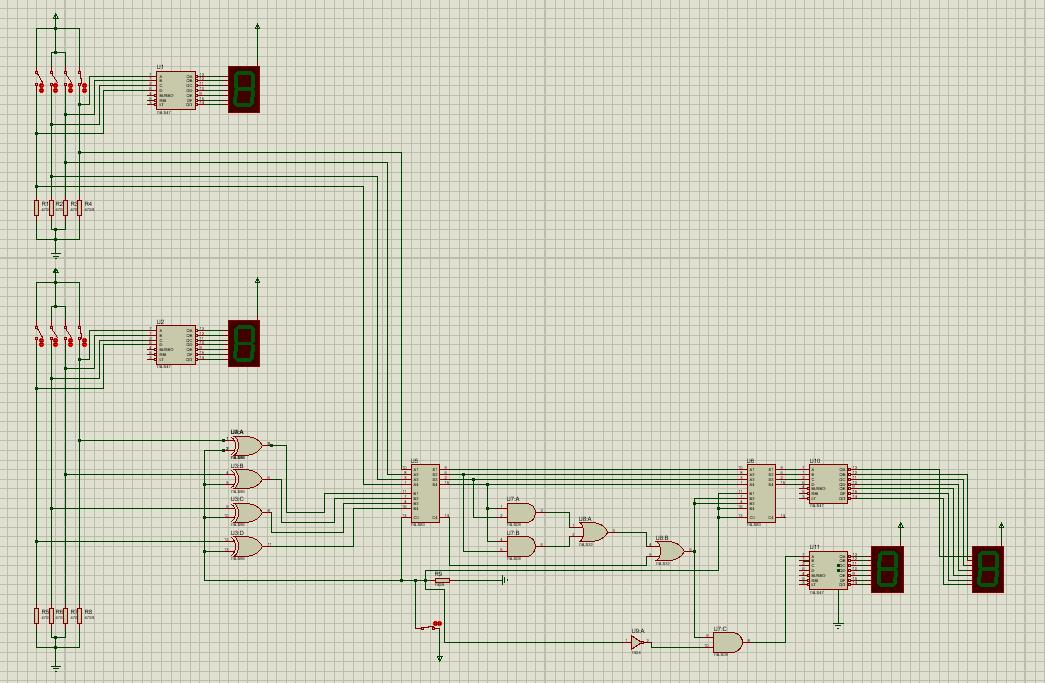 sumador y restador de 4 bits 7483 1 - Sumador y restador 4 bits