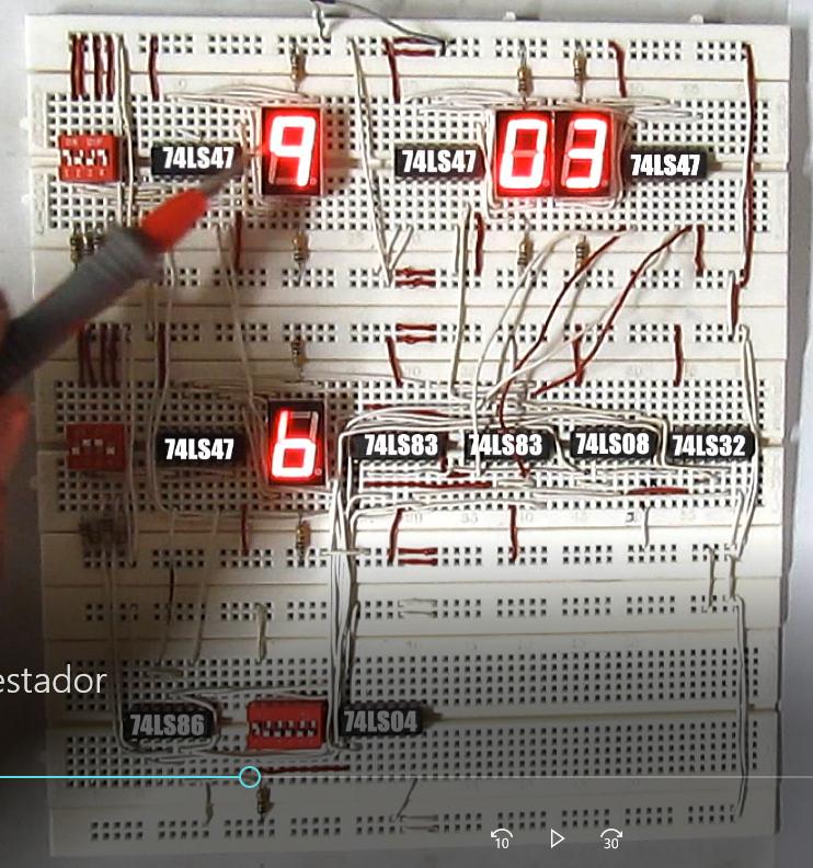 sumador y restador de 4 bits 7483 - Sumador y restador 4 bits