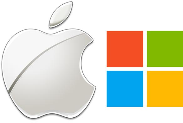 Apple MS logo - Sistemas operativos Windows y apple