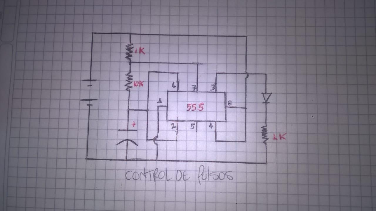 control de temporizador - Circuito contador - 74163 en protoboard
