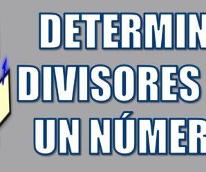 Determine el conjunto de los divisores de un número en Pseint