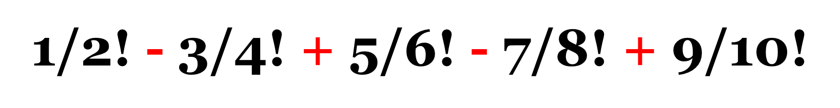 algoritmo pseint fracciones denominador factorial