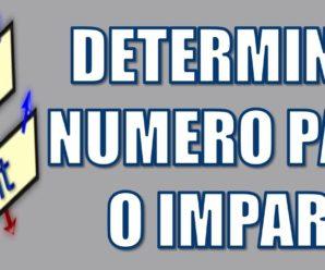 Determine si un número e par o impar en Pseint