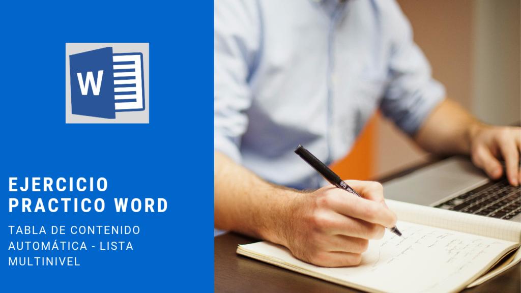 ejercicio para aprender word
