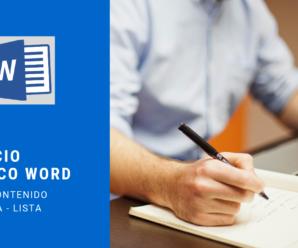 Ejercicio Practico Microsoft Word – Paso a Paso