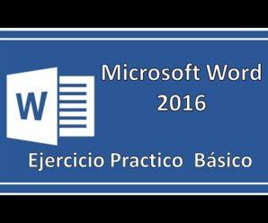 Ejercicio Practico Básico- Microsoft Word Paso a paso