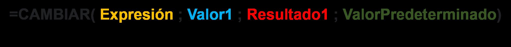 sintaxis funcion cambiar excel - Como Utilizar la Función Cambiar en Excel 2019 o 365